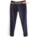 Women's or girls' trousers, bib and brace overalls, breeches and shorts of cotton, knitted or crocheted
